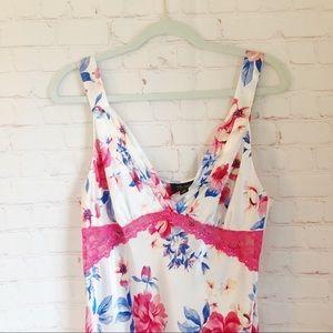 [Thalia Sodi] floral satin long nightgown Large